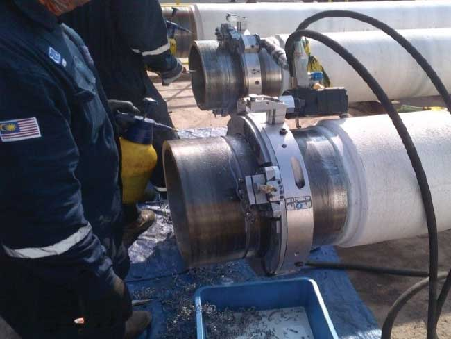 "GWF-1 CUTTING OF 16"" [CRA] OD PIPE"