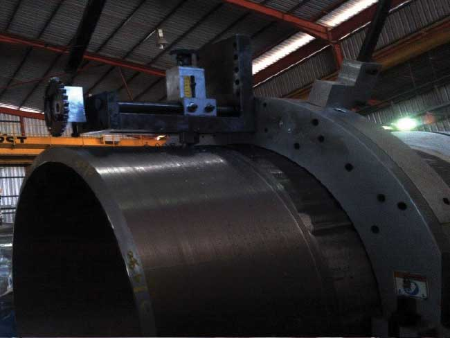 "WHEATSTONE USPTREAM EXTERNAL PIPE END MACHINING OF 24"" OD PIPE"