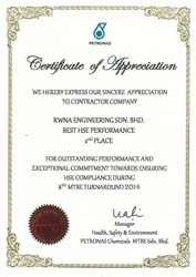 BEST HSE PERFORMANCE 2014