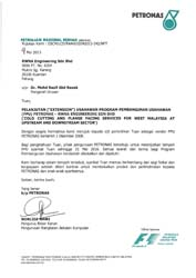 LETTER OF EXTENSION FOR VENDOR DEVELOPMENT PROGRAME (COLD CUTTING AND FLANGE FACING SERVICES FOR WEST MALAYSIA AT UPSTREAM AND DOWNSTREAM)