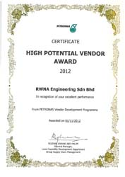 RECOGNITION HIGH POTENTIAL VENDOR AWARD FROM VDP